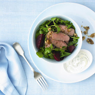 Spiced Lamb Salad with Basil Yogurt