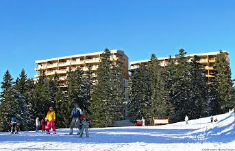 Photo: Vue de la résidence, sur les pistes (crédits B.Longo)