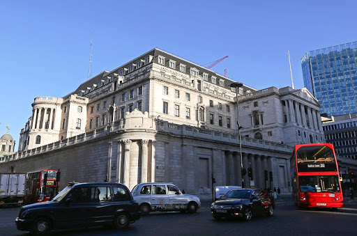 The Bank of England stands in the City of London. Picture: BLOOMBERG