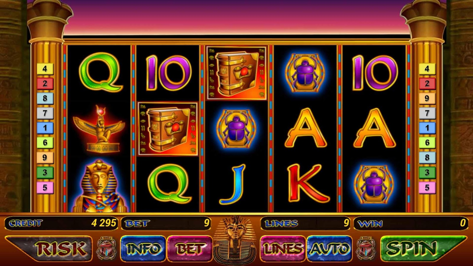 slots machines online book of raa