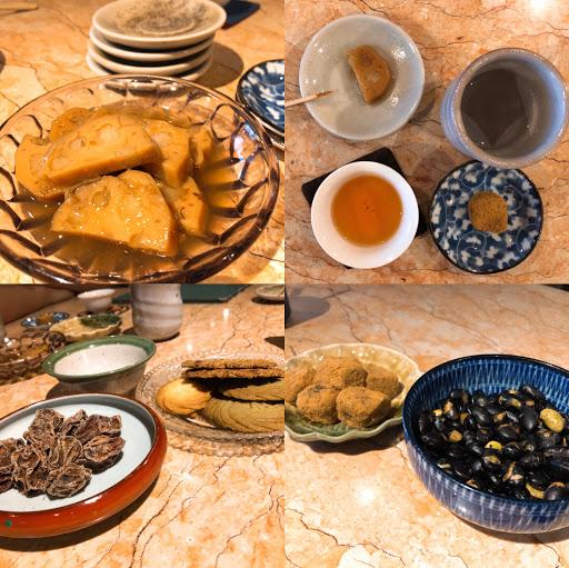 茶點好吃,茶葉種類多、清香回韻很好喝,可以多人點一壺可回泡4、5次。適合一群人泡茶聊天的地方、第一次覺得泡茶、喝茶是很舒服又能很享受,小點心推薦椒鹽黑豆及香餅。   低消一人150元,餐點價位較高。