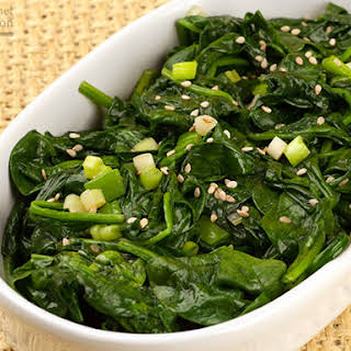 Asian-Style Sautéed Spinach.