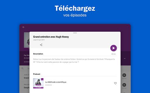 Radio France - podcasts, direct radios 6.5.2 screenshots 13