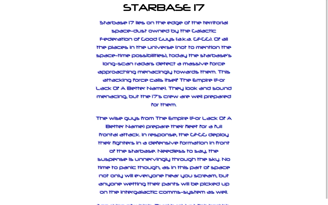 Starbase 17- screenshot