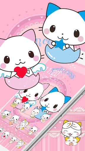 Cute Cartoon Cat Love Theme 1.1.7 screenshots 3