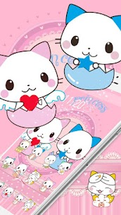 Cute Cartoon Cat Love Theme 1.1.7 Mod Android Updated 3