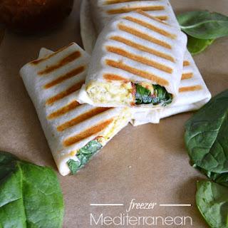 Freezer Mediterranean Breakfast Wraps.