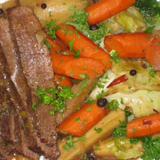 Guinness Braised Corned Beef and Cabbage.