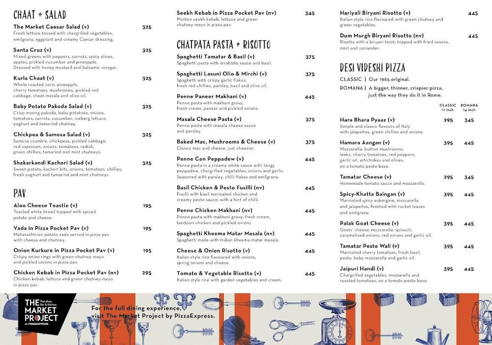 The Market Project by PizzaExpress menu 9