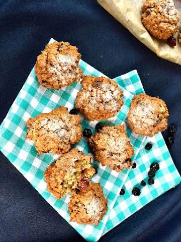 Superb rye flour and dry berries healthy cookies