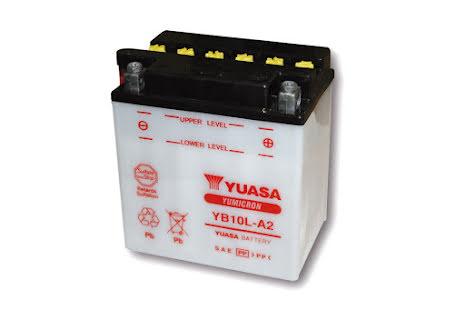 YUASA MC-batteri YB 10L-A2, 12V12AH utan syrapack