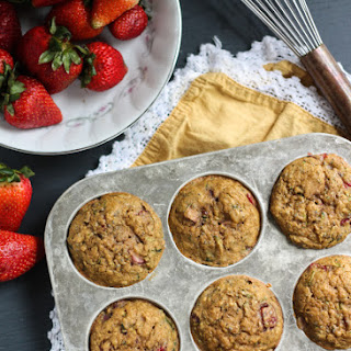 Chia, Lemon & Strawberry Zucchini Muffins.