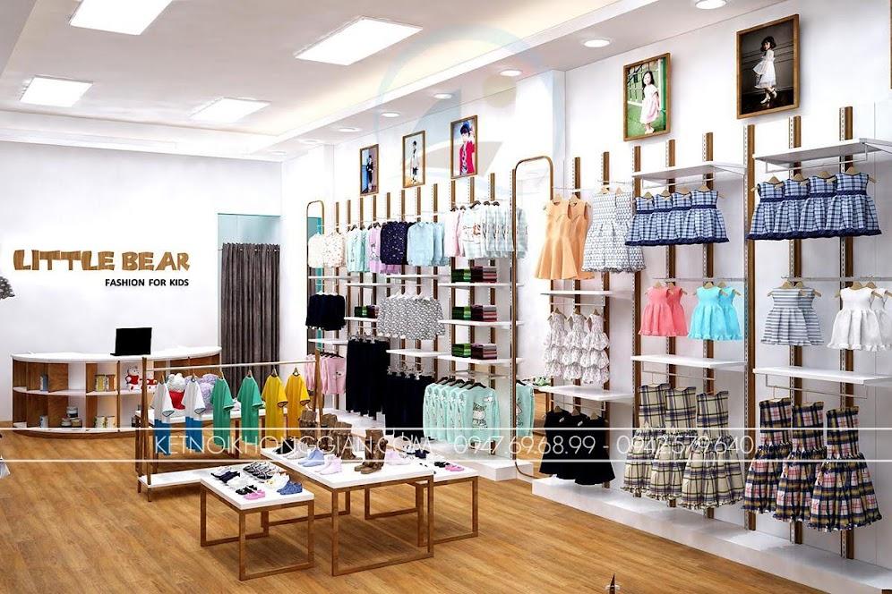 thiết kế shop thời trang trẻ em 7