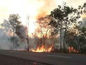 Photo: Day 2 - Fire near Ubirr