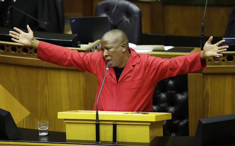 Julius Malema says the ANC's decision to make members step aside when charged with serious crimes is a big mistake for the ANC but 'good for the EFF'. File photo.