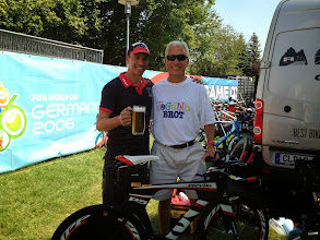 Photo: Can't beat the service - Marc Lauzon president of TriBike Transport personally delivering my bicycle German style!