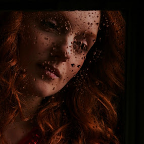 ...through the looking glass by Joseph Quartson - People Portraits of Women ( ginger, droplet, woman, enchanting, flame )