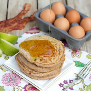 Whole Wheat Apple Bacon Pancakes