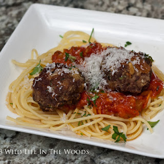Spaghetti and Venison Meatballs