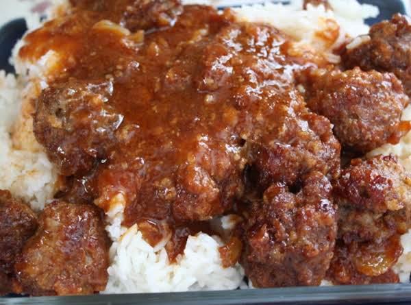 Sauce Baked Meatballs Recipe