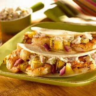 Shrimp Tacos With Jalapeno Tartar Sauce.