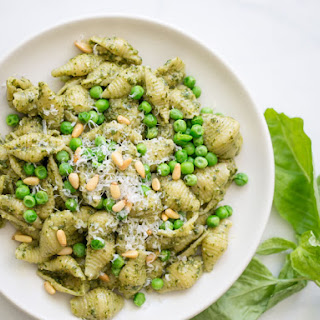 Pasta with Basil Pesto and Peas