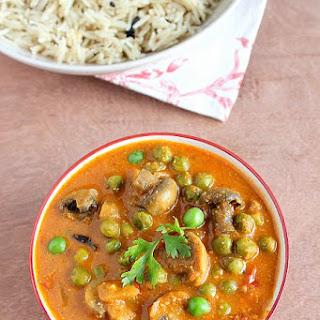 Matar Mushroom Masala | Mushroom Peas Curry | Mushroom Recipes