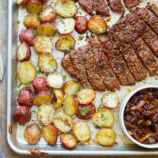 Sheet Pan Steak and Potatoes Recipe