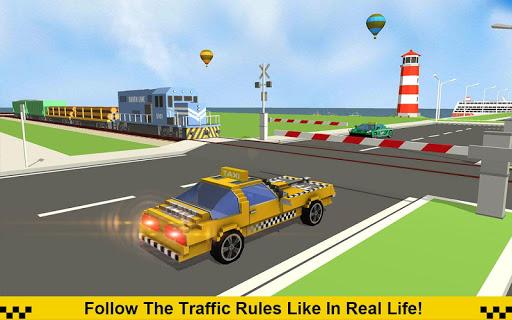 Crazy Taxi Driver: American Blocky Cab 1.4 screenshots 4