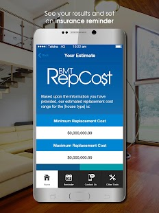 BMT Replacement Cost Estimator- screenshot thumbnail