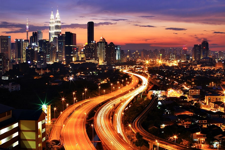 S Curve : Elevated Highway by Abd Rahman - Landscapes Starscapes