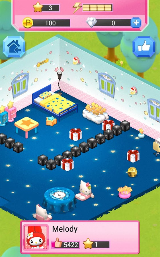 Hello Kitty Jewel Town Match 3- screenshot