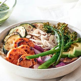 Cauliflower Rice Bowl with Chimichurri Dressing.