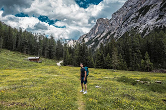 Photo: Daniele on Trail 19 in Valle di Braies, Dolomiti, Italy | http://blog.kait.us/2014/06/hiking-dolomites.html