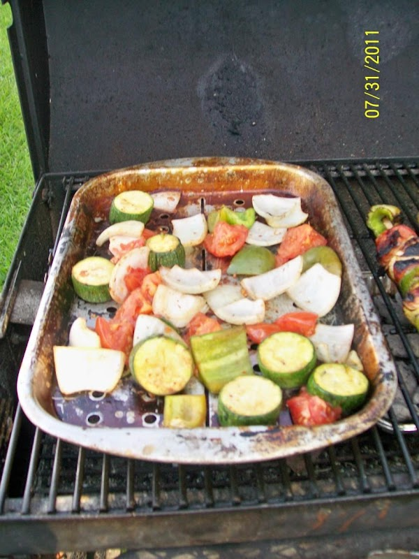 This is how I cook the extra vegetables for the ratatouille.....
