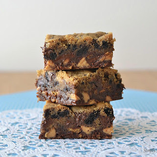 Double Decker Chocolate Peanut Butter Bars