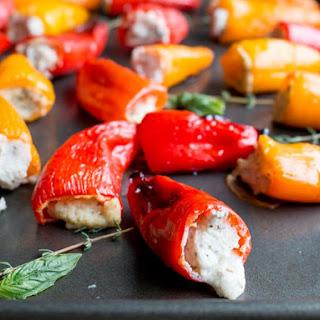 Feta Stuffed Mini Peppers.