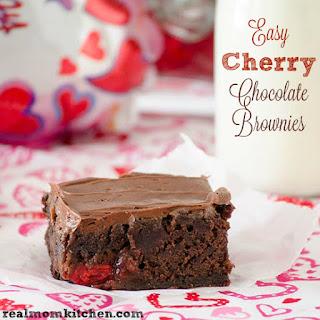 Easy Cherry Chocolate Brownies.
