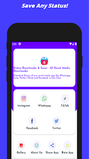 Status Downloader & Saver - All Social Media for PC-Windows 7,8,10 and Mac apk screenshot 1