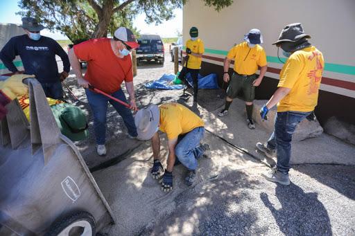 Teen builds pet relief area at rest stop