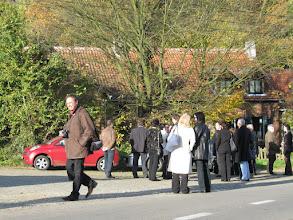 Photo: Cousin Pierre Van Hecke, of Brussels, walking from the old Vandeput farm house