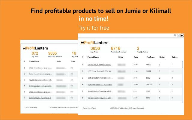 Profit Lantern - Earn from Jumia Best Sellers