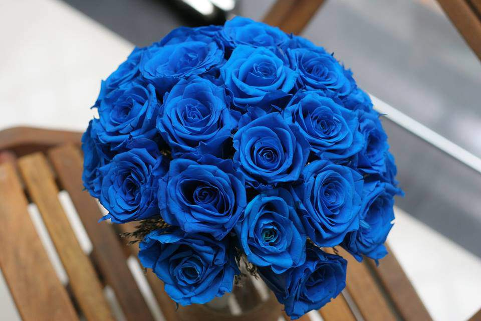 hoa hong xanh vinh cuu