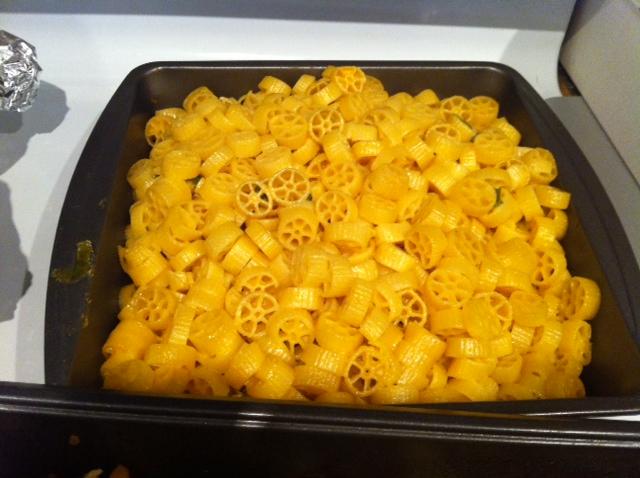 Photo: homemade mac and cheese.