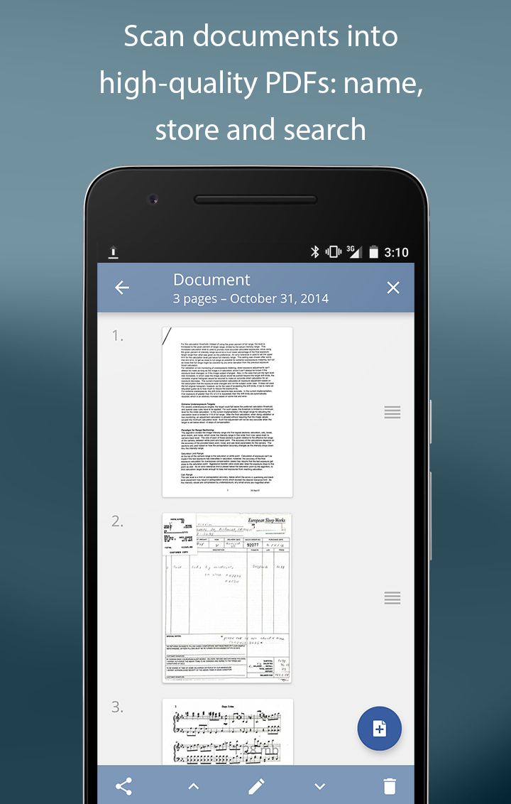 TurboScan: scan documents and receipts in PDF Screenshot 1