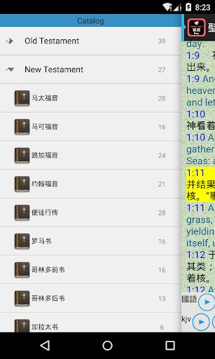 Screenshot for Chinese - English Audio Bible in Hong Kong Play Store