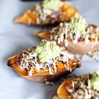 Healthy Quinoa Stuffed Sweet Potatoes.