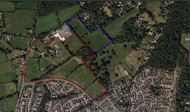 The proposals for 303 homes at the Goodmores Farm site at Hulham Road in Exmouth
