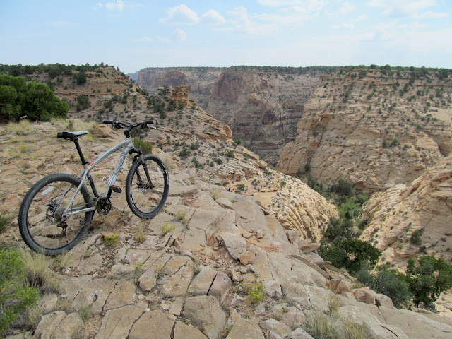 Mountain bike on the Good Water Rim trail
