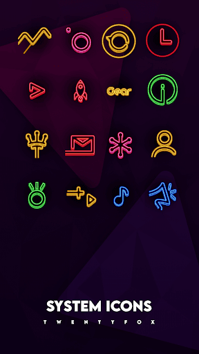 Neon Ray Icons -  Icon pack ss3